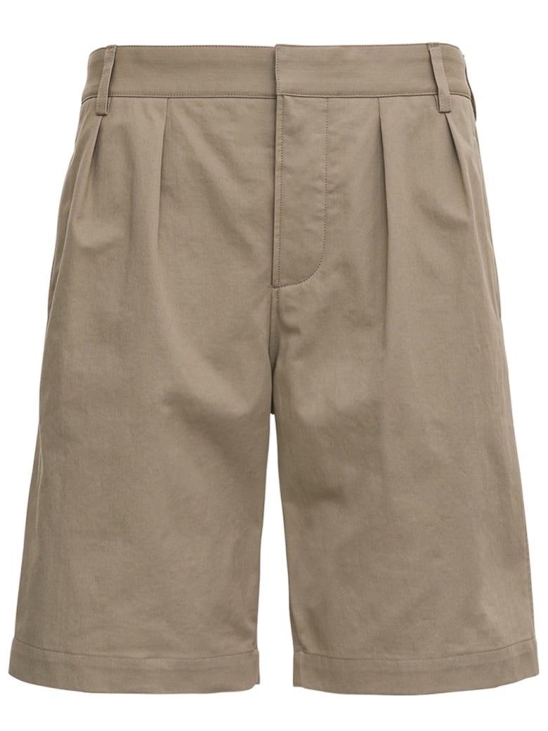 Saint Laurent Beige Cotton Bermuda Shorts - Beige