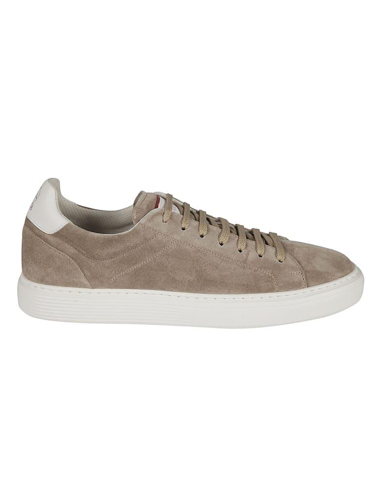 Brunello Cucinelli Classic Suede Sneakers - BROWN
