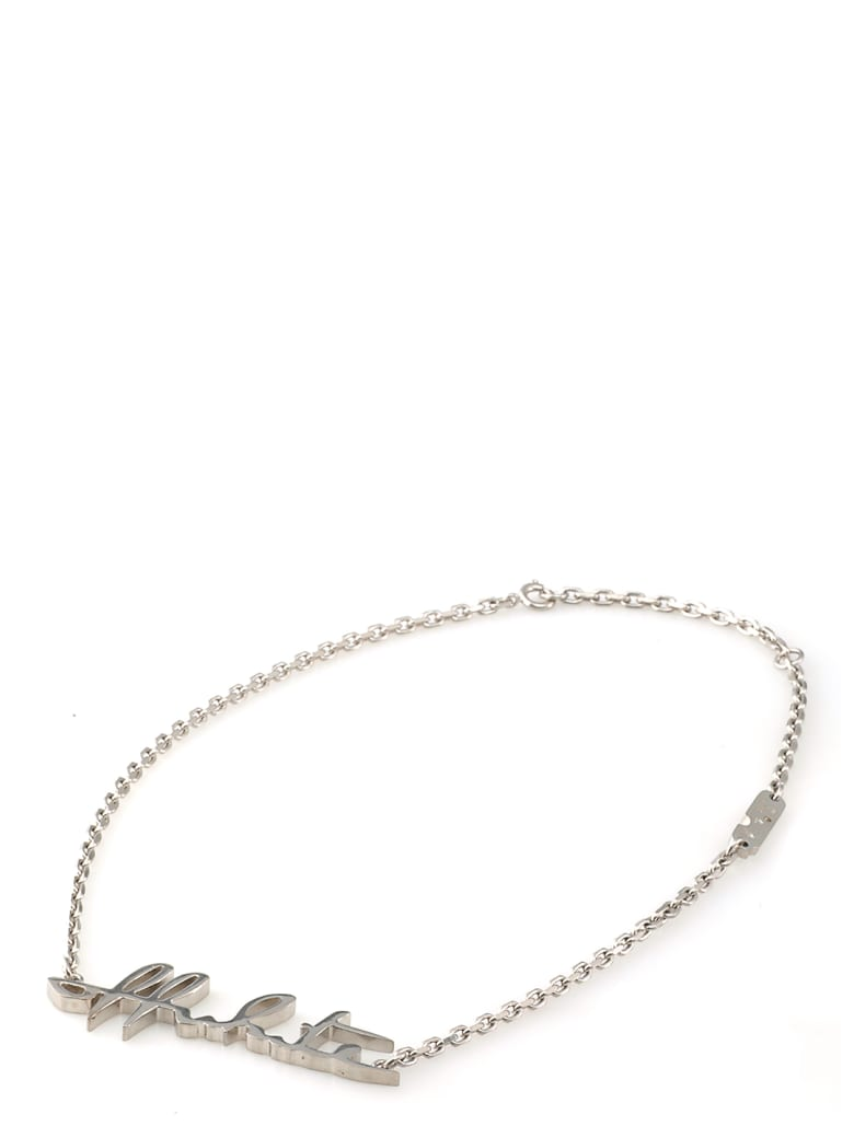 Off-White Met Logo Necklace - SILVER NO