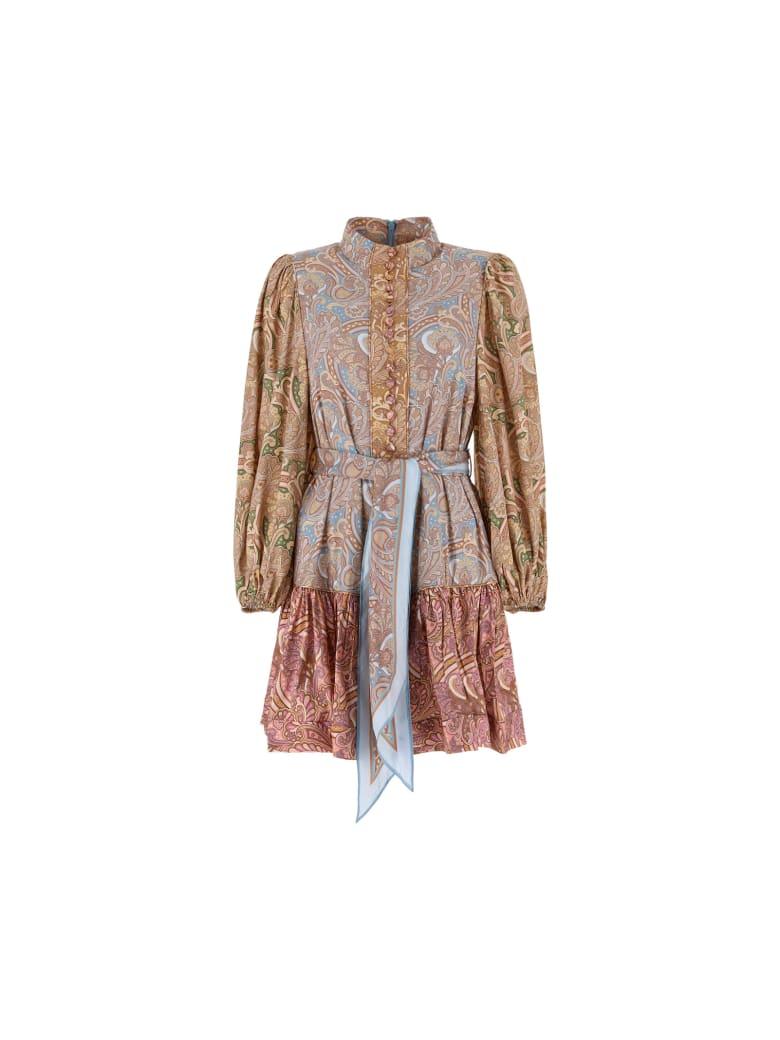 Zimmermann Mini Dress - Spliced paisley