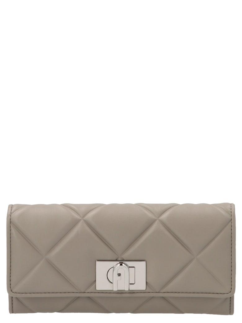 Furla 'continental 1927' Wallet - Grey