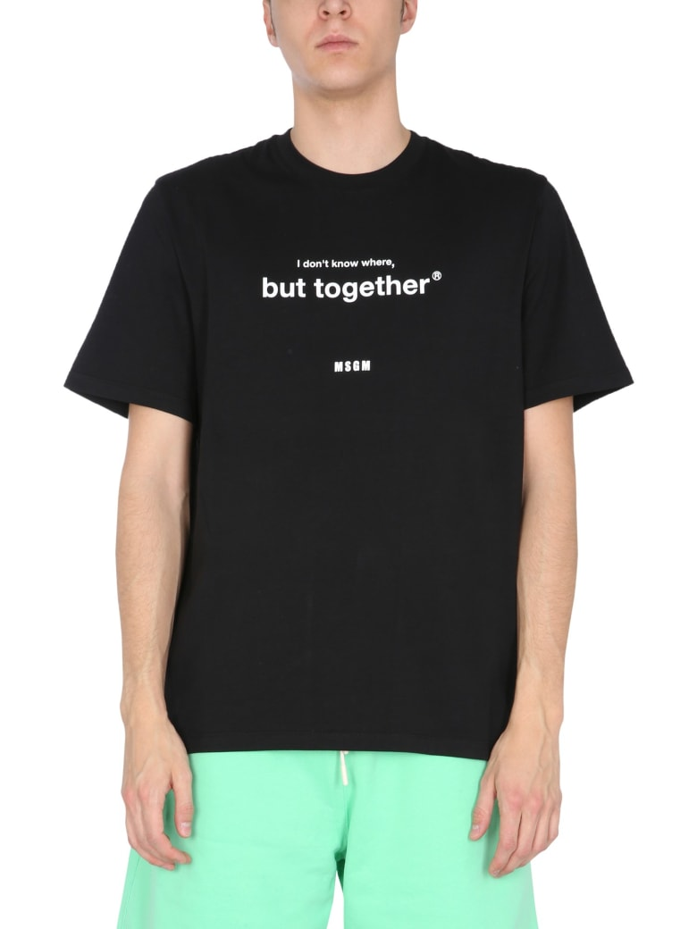 MSGM Crew Neck T-shirt - NERO