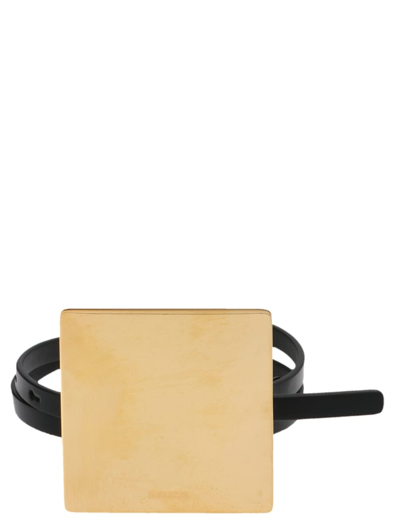 Jil Sander 'square Plaque' Belt - Black