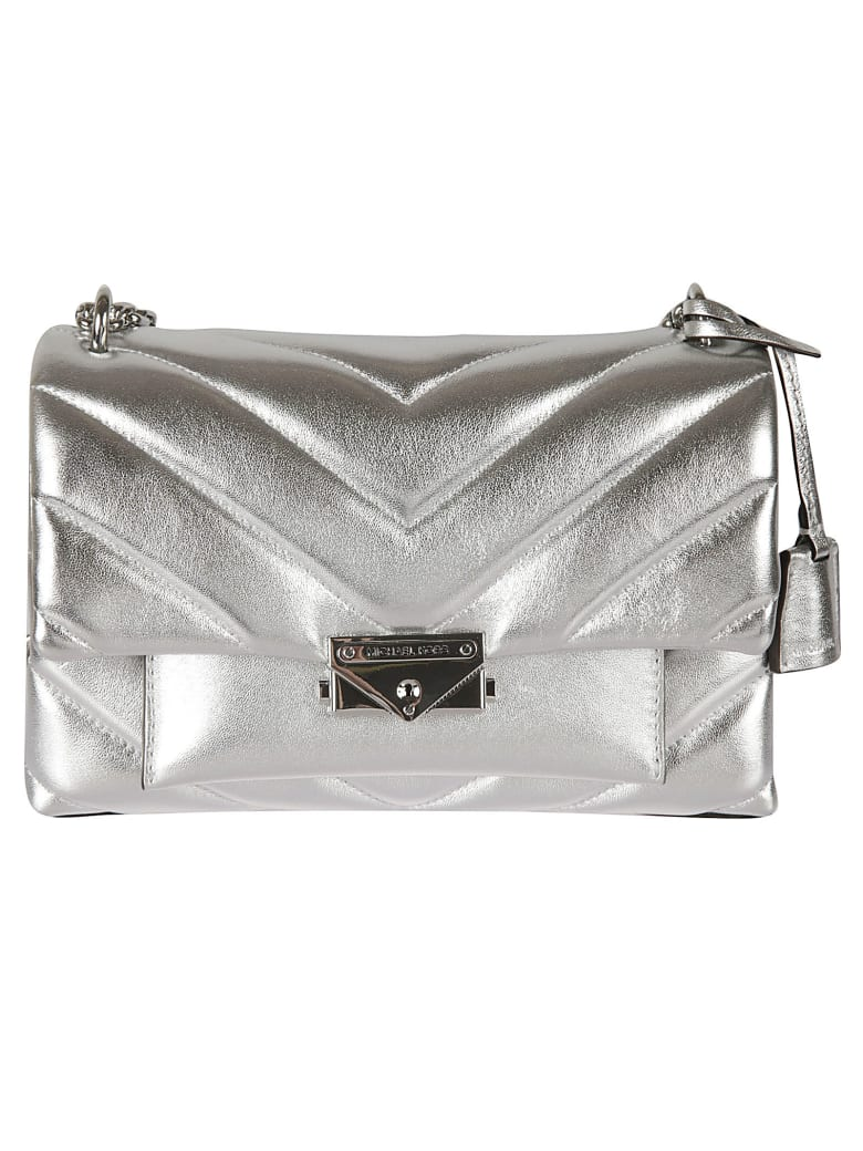 Michael Kors Cece Medium Chain Shoulder Bag - Silver