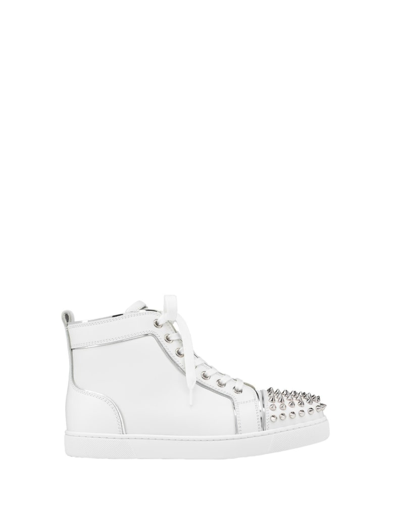 Christian Louboutin Christian Louboutin Lou Spikes Sneakers - Bianco silver