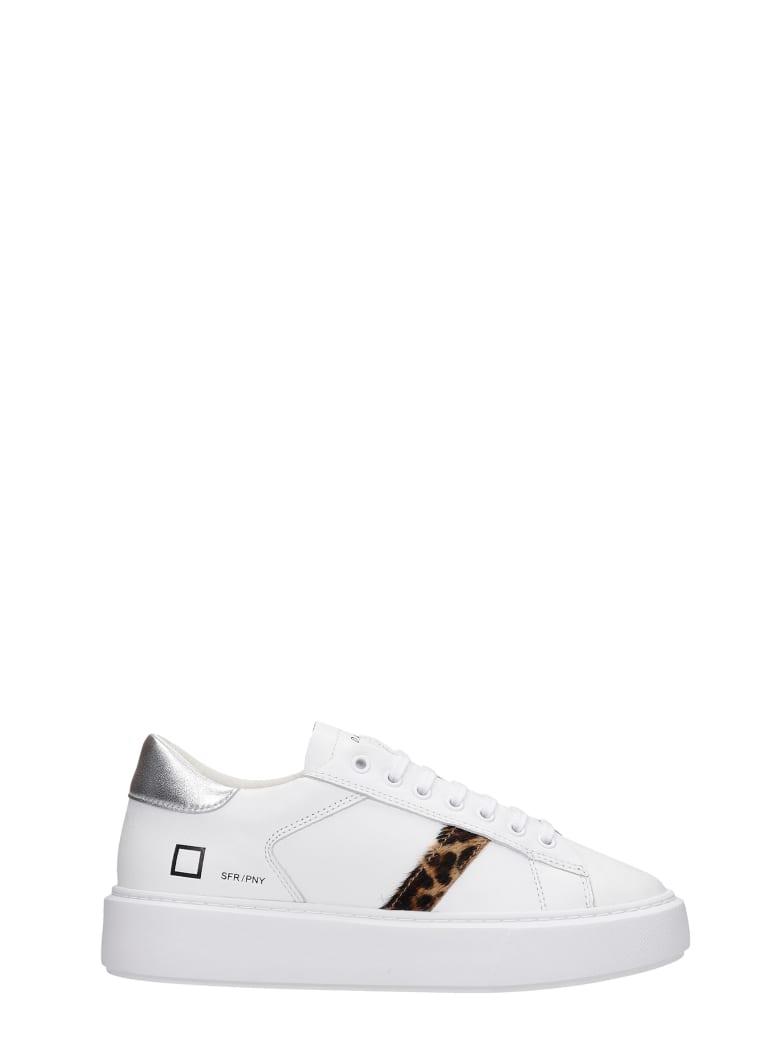 D.A.T.E. Sfera Sneakers In White Leather - white