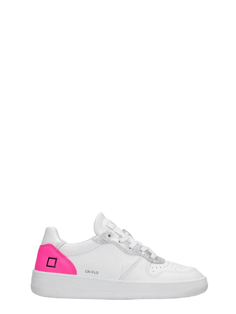 D.A.T.E. Court Sneakers In White Leather - white