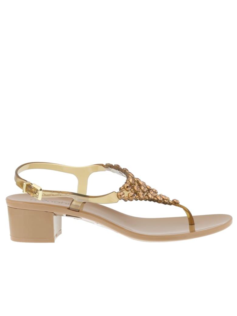 Menghi Pump Sandals - Brown