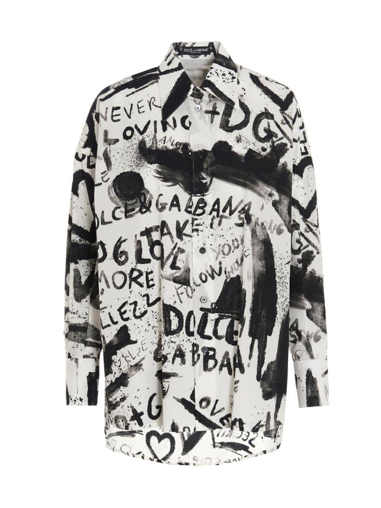 Dolce & Gabbana 'dg Next' Shirt - Black&White