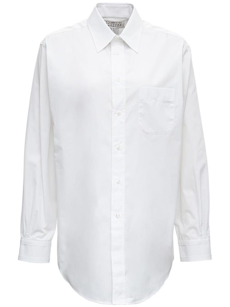 Maison Margiela White Cotton Poplin Shirt - White