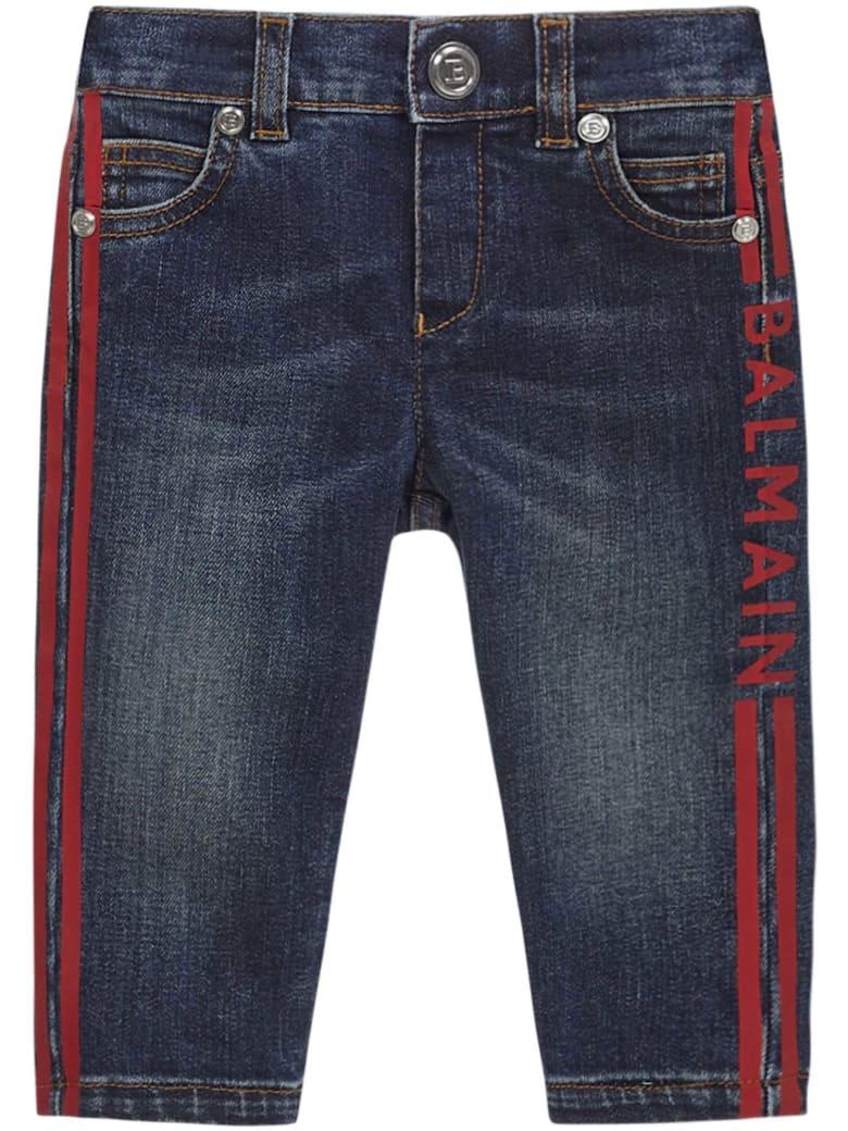 Balmain Paris Kids Jeans - Blue