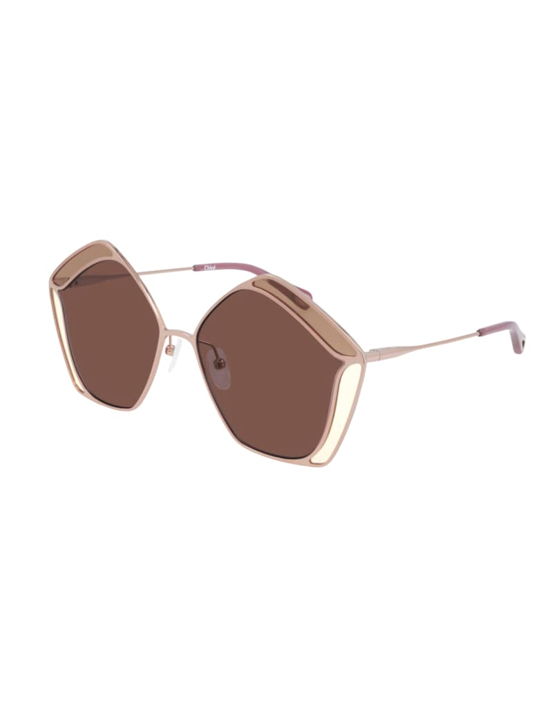 Chloé CH0026S Sunglasses - Gold Gold Red