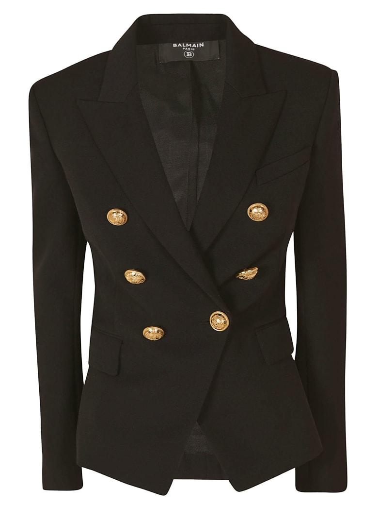 Balmain Regular Double-breasted Dinner Jacket - Black