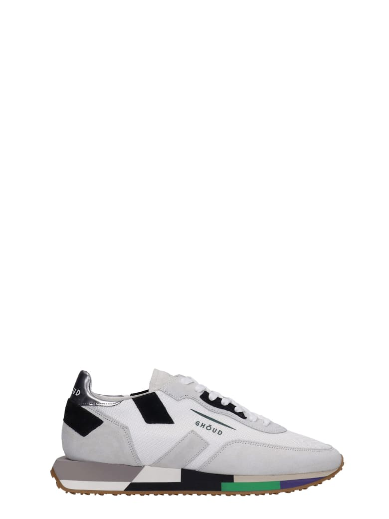 GHOUD Rush Sneakers In Grey Suede And Fabric - grey