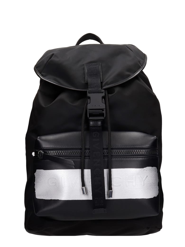 Givenchy Backpack In Black Nylon - black