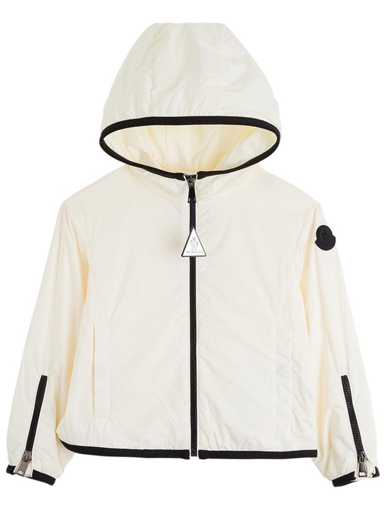 Moncler Breanna Nylon Jacket With Contrasting Profiles - White