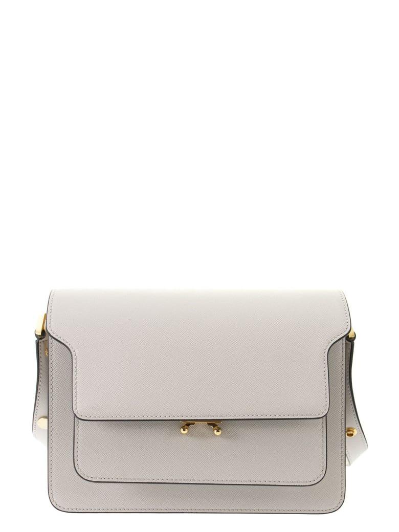 Marni Trunk Bag In Mono-coloured Saffiano Calfskin - Pelican