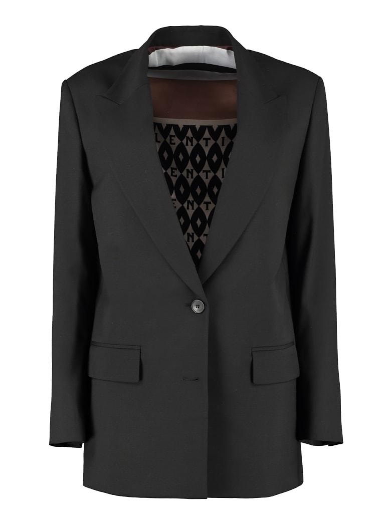 Valentino Single-breasted Two-button Blazer - black
