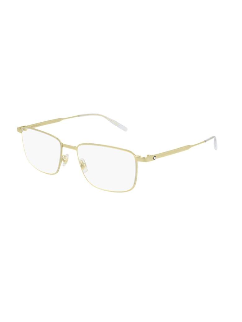 Montblanc MB0146O Eyewear - Gold Gold Transparent