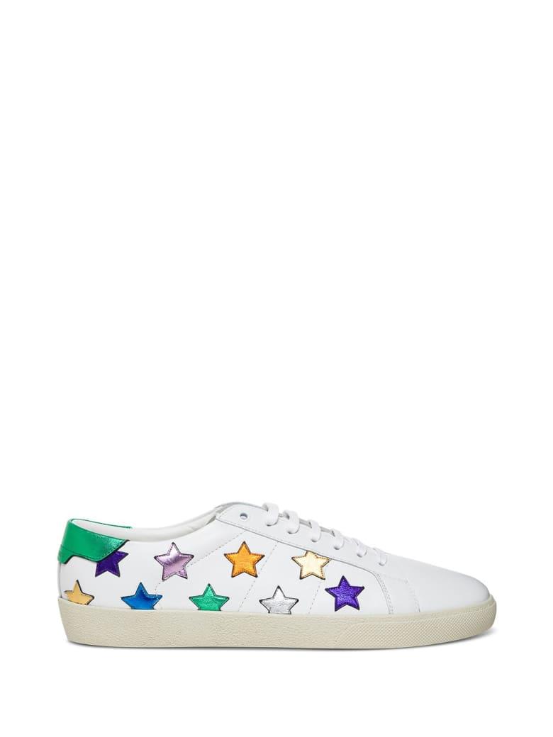 Saint Laurent Sl06 Star Curt Classic Sneakers - White