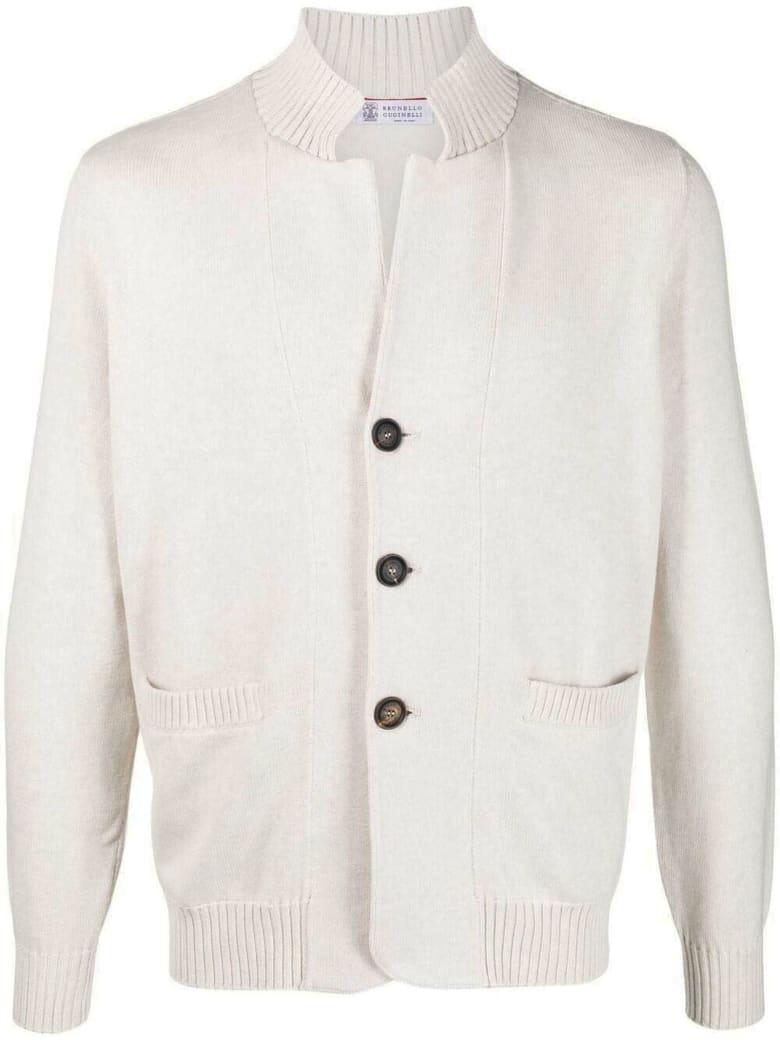 Brunello Cucinelli Beige Cotton Cardigan - Beige