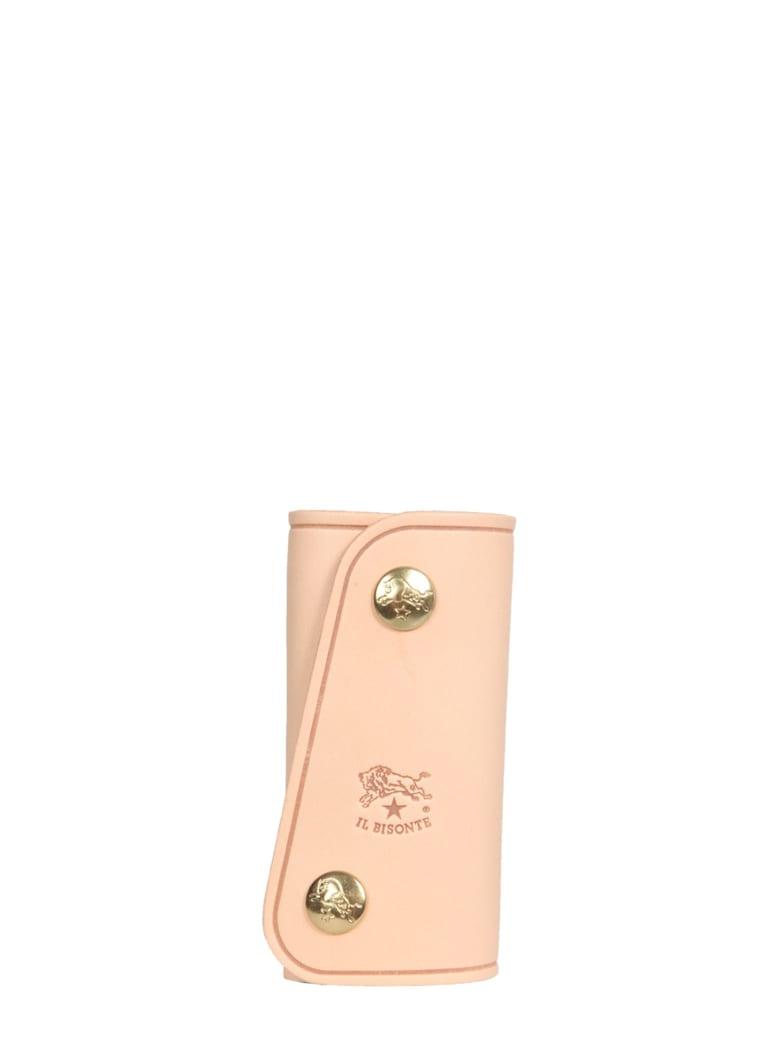 Il Bisonte Leather Key Ring - BEIGE