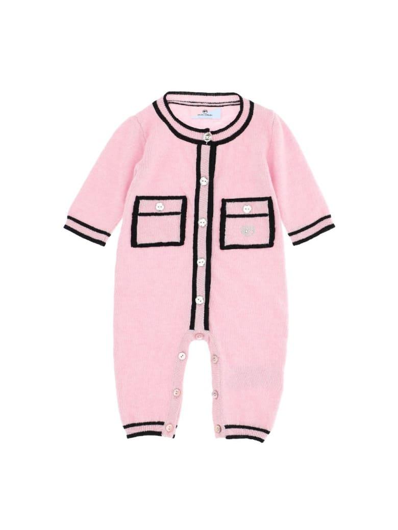 Chiara Ferragni Pink Wool Blend Onesie - Pink