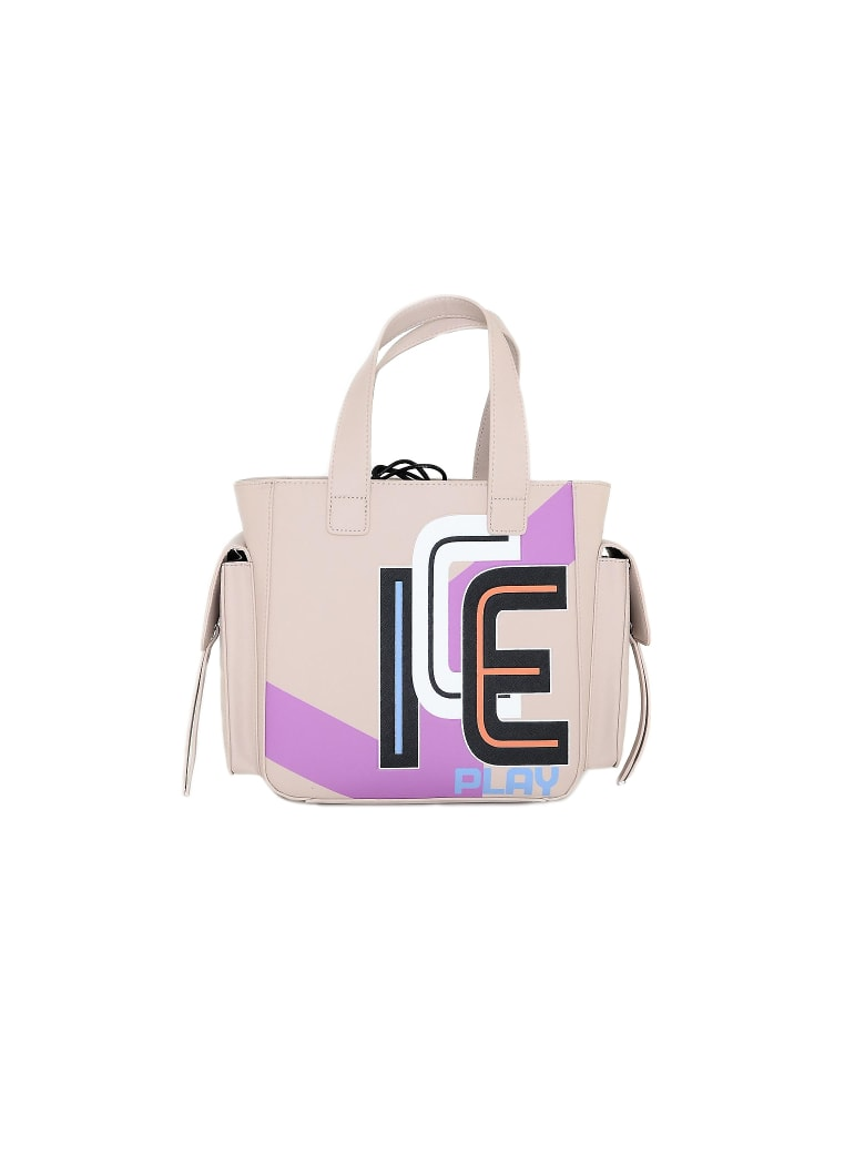 Ice Iceberg Ice Play Color Block Top-handles Small Tote - Pink