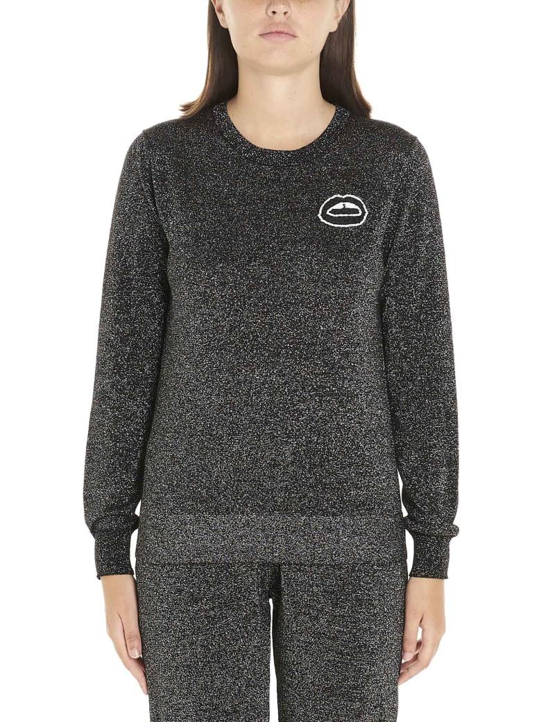 Markus Lupfer 'tracy Sequin Lara Lip Lurex' Sweatshirt - Black