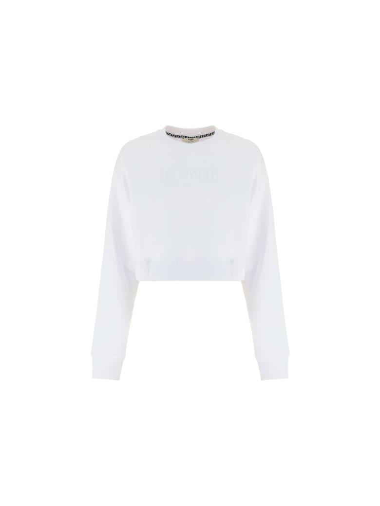 Fendi Crop Sweatshirt - White