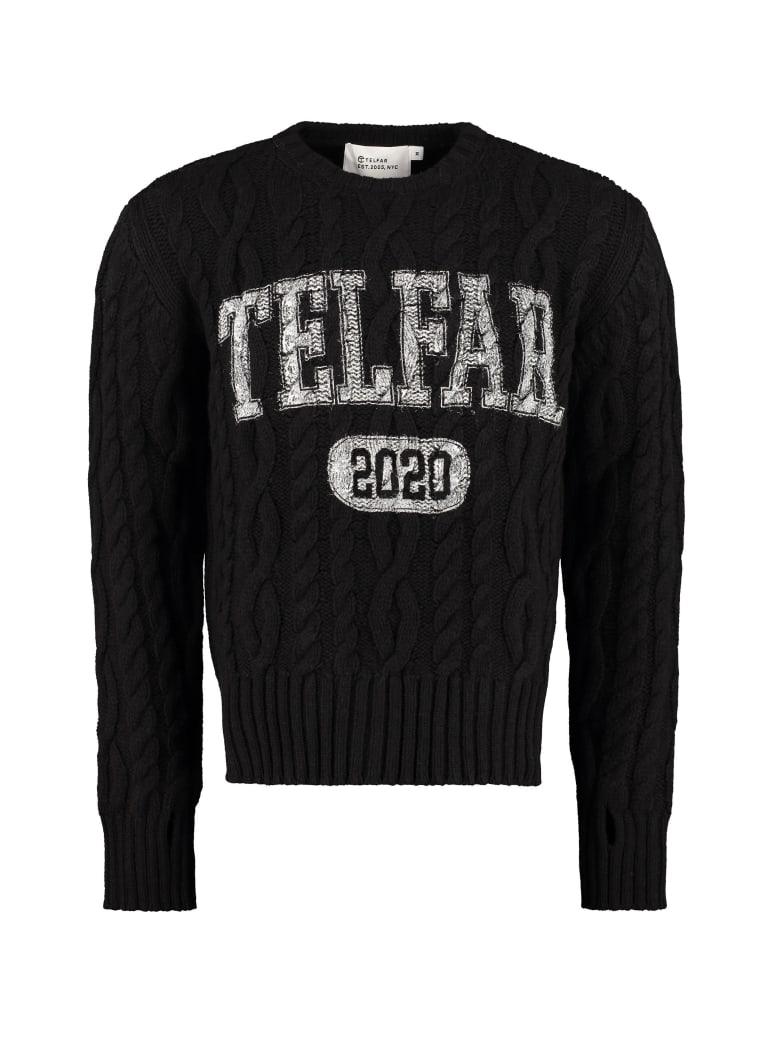 Telfar Cable Knit Pullover - black