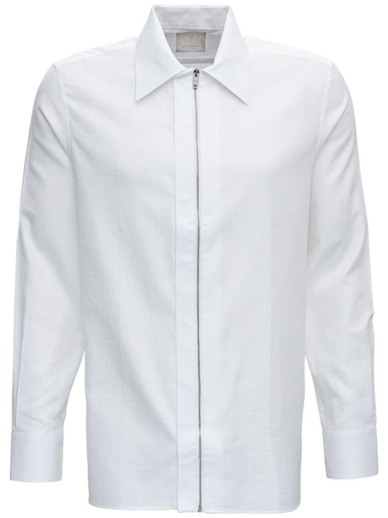 Givenchy 4g Jacquard Cotton Shirt - White