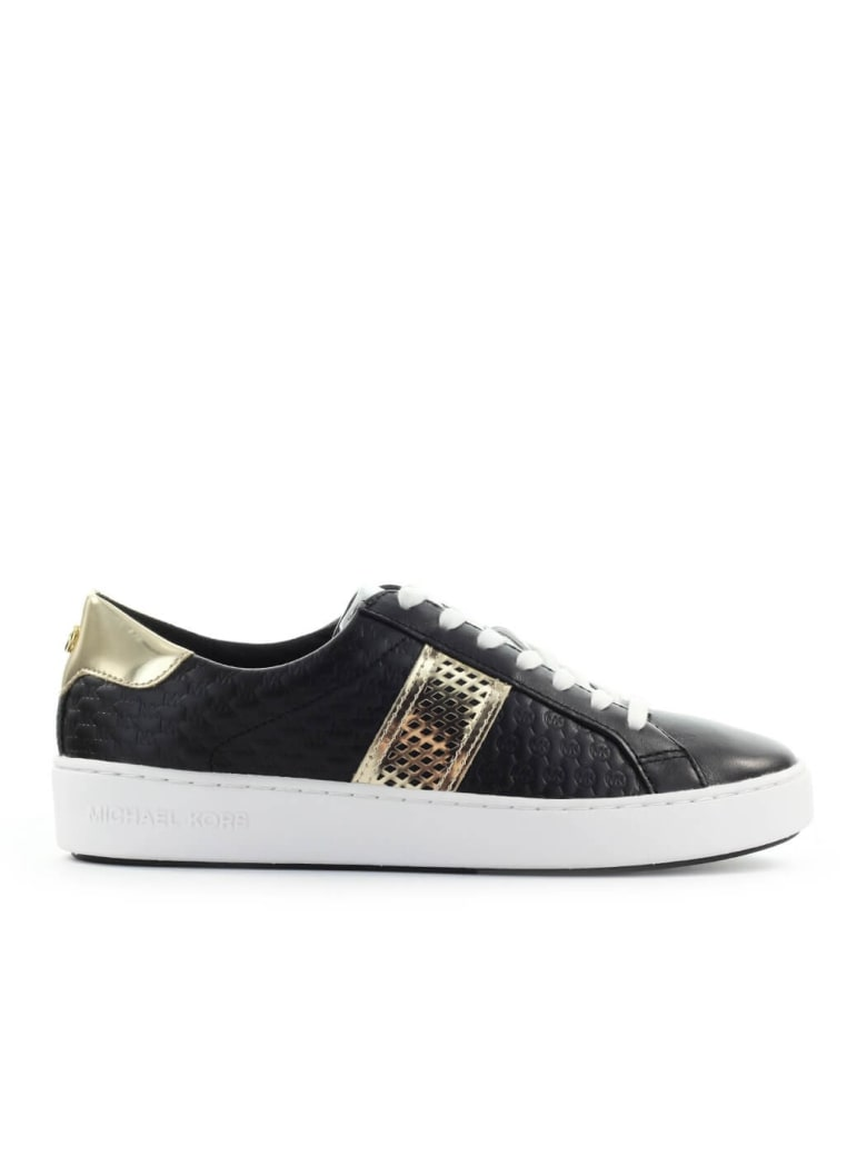 Michael Kors Irving Stripe Lace Up Black Sneaker - Nero