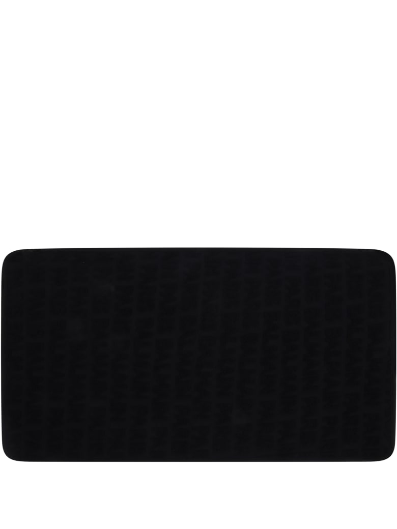 Balmain Black Towel For Babykids With Black Logo - Black