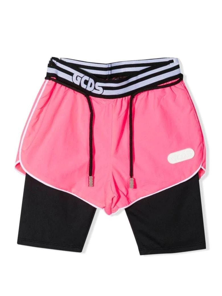 GCDS Pink And Black Shorts - Rosa