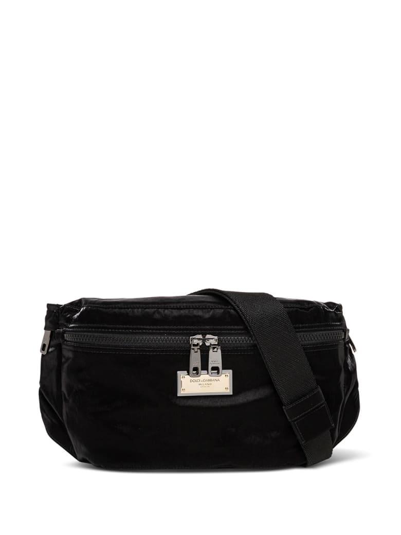 Dolce & Gabbana Sicily Black Waist Bag In Nylon - Black
