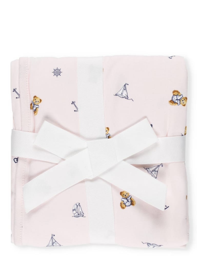 Ralph Lauren Polo Bear Blanket - PINK MULTI