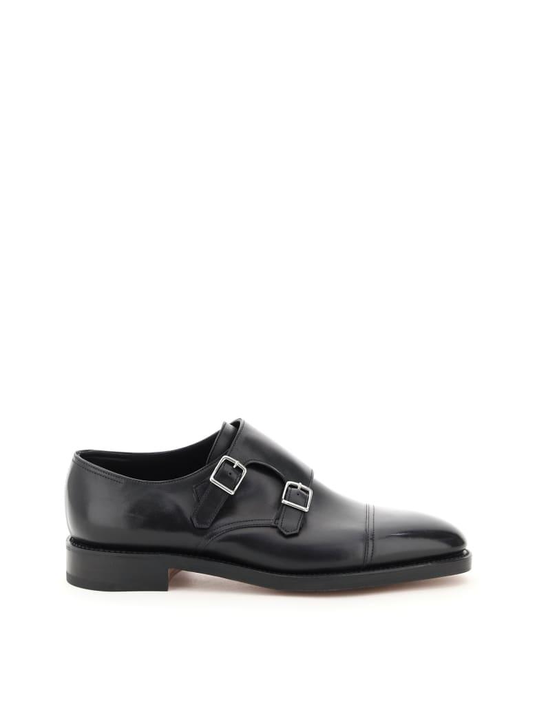 John Lobb William Double Monk Loafers - BLACK (Black)