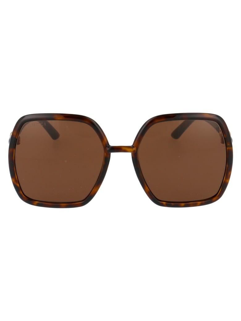 Gucci Gg0890s Sunglasses - 002 HAVANA HAVANA BROWN