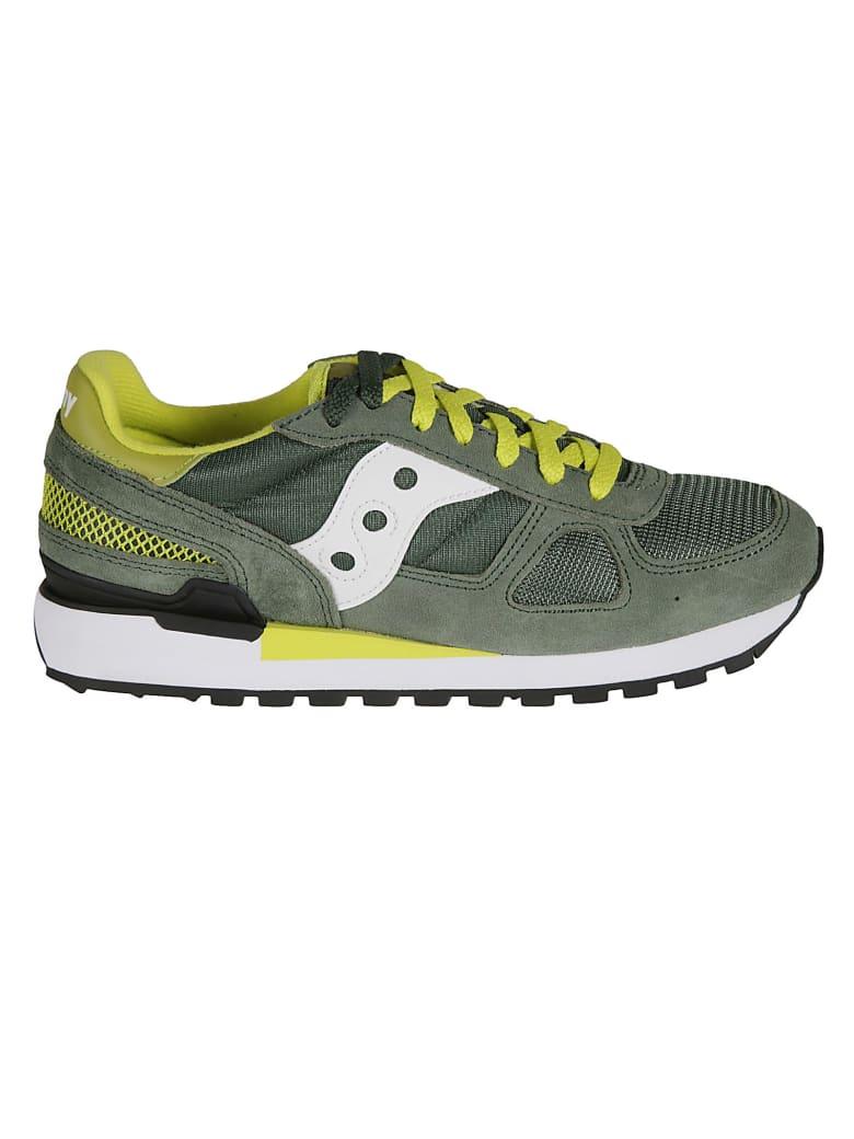 Saucony Shadow Original Sneakers - Green/White/Yellow