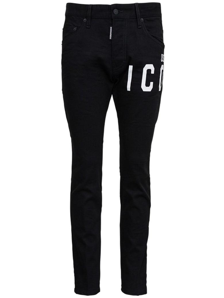 Dsquared2 Black Icon Denim Jeans - Black