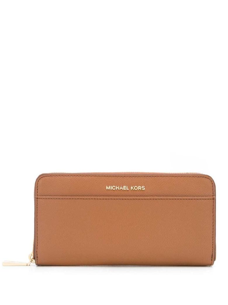 MICHAEL Michael Kors Camel-colored Leather Wallet With Logo - Beige