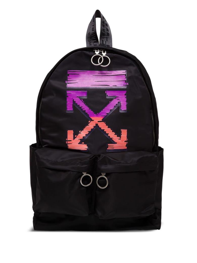Off-White Marker Arrow Easy Nylon Backpack - Black