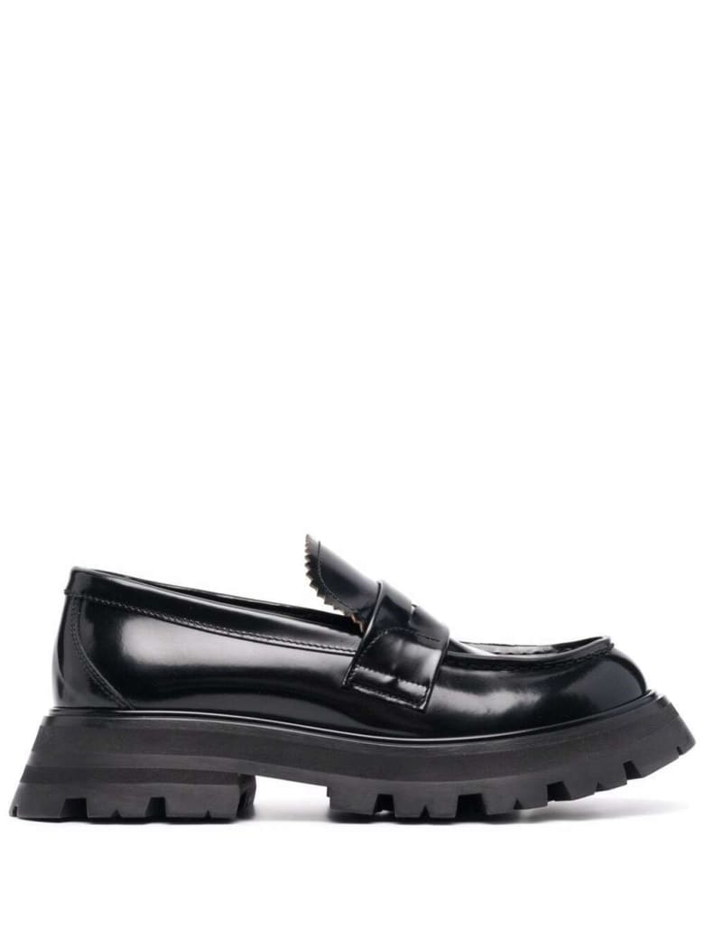 Alexander McQueen Wander Black Leather Loafers - Black