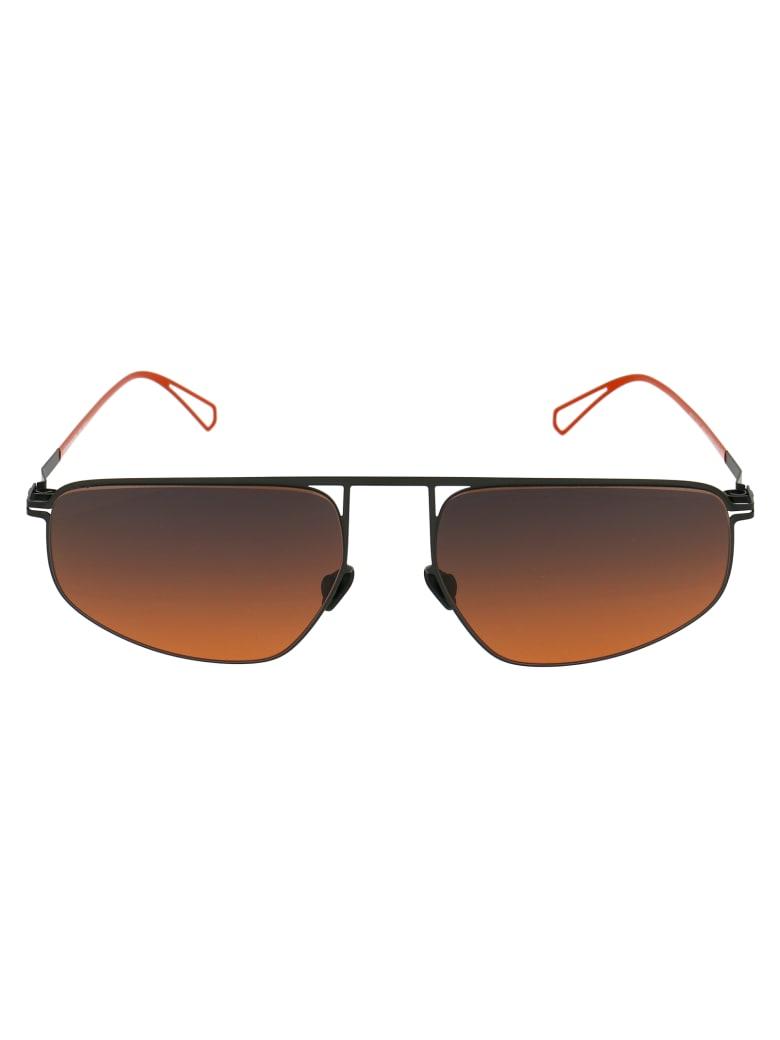 Mykita Nat Sunglasses - 814 C62 BLACK/POW11   BLACK ORANGE GRADIENT