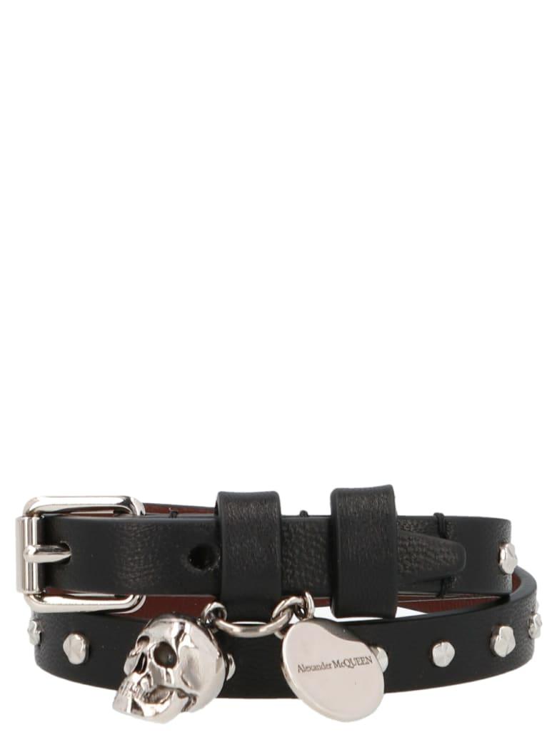 Alexander McQueen 'double Wrap' Bracelet - Black