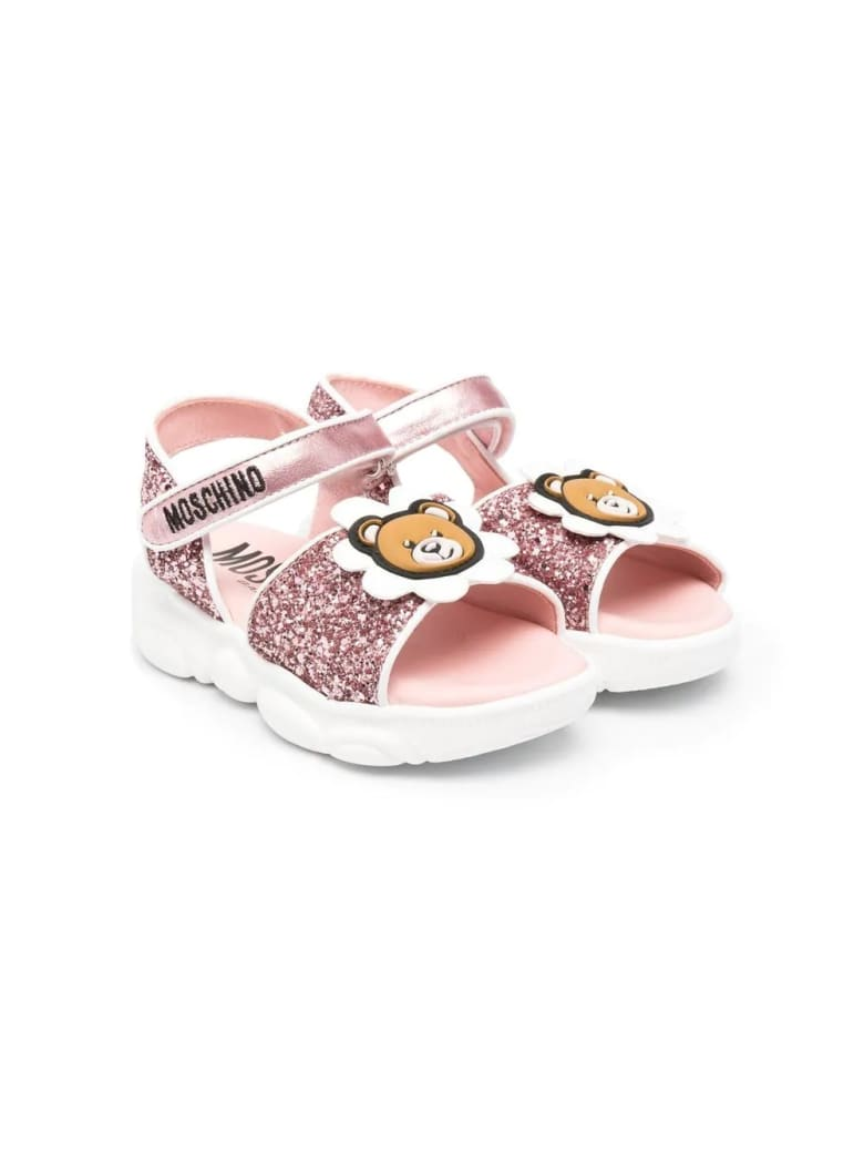 Moschino Sandals With Applications - Pink