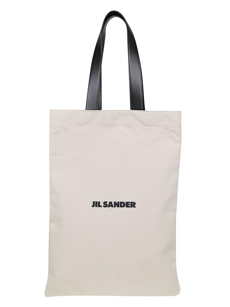Jil Sander Flat Shopper Grande - Natural
