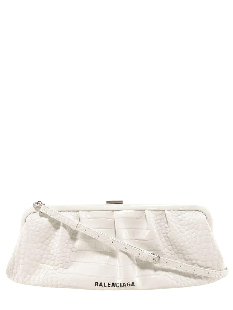 Balenciaga Cloud Clutch - White