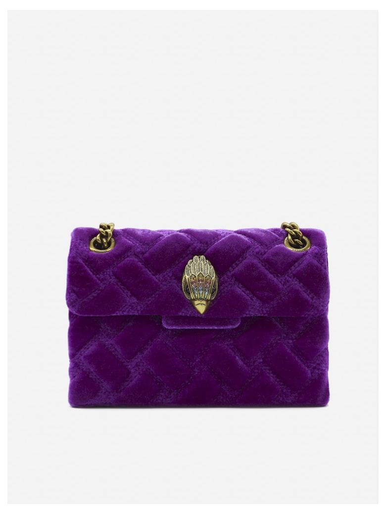 Kurt Geiger Mini Kensington Bag In Velvet - Purple